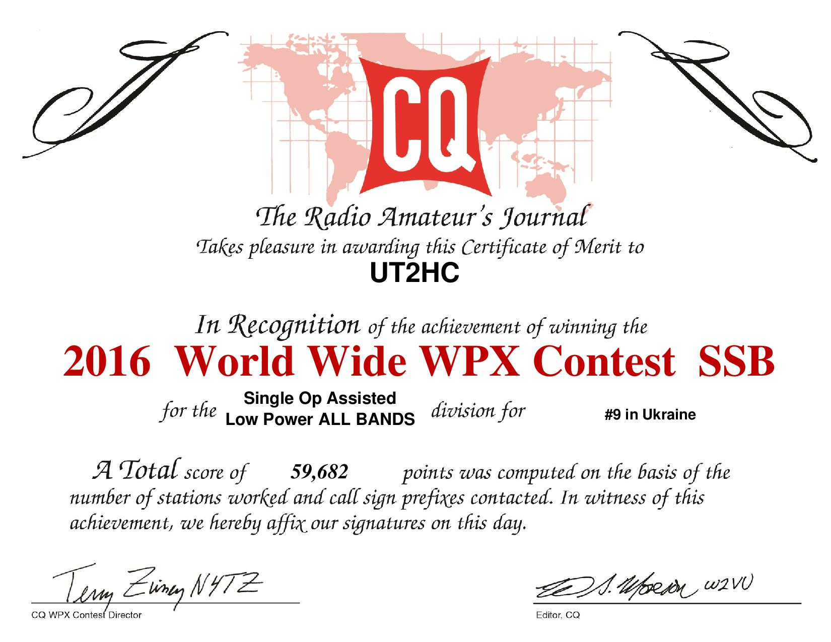UT2HC 2016SSB WPXcertificate page 001
