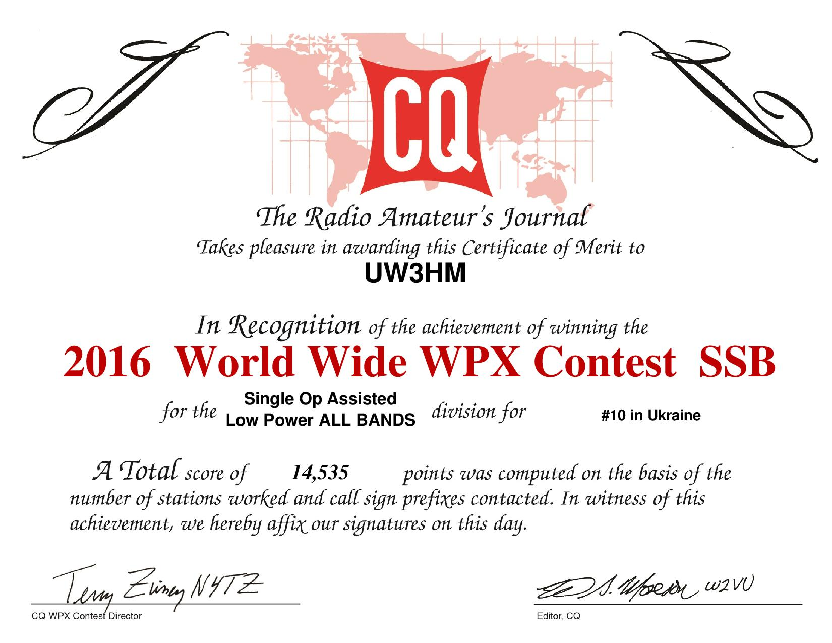 UW3HM 2016SSB WPXcertificate page 001